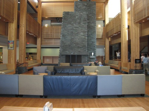 Inside the student center