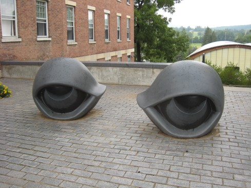 Outside the Williams College Museum of Art